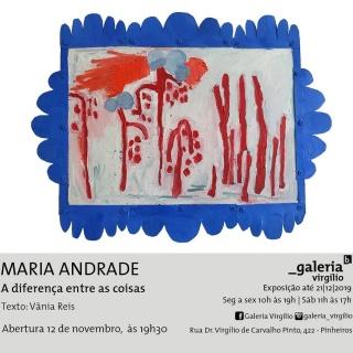 Maria Andrade. A diferença entre as coisas