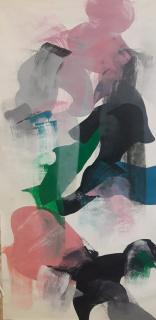 S/T /Carlos Arnaiz_ óleo sobre papel (144 x 78 cm)