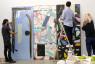 Fotografía de los tres artistas en el taller — Cortesía del Instituto de la Cultura y las Artes de Sevilla (ICAS)