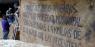 Una de les pancartes que es distribuiexen per bona part del conjunt arqueològic. Aquesta, inspirada en les reivindicacions veïnals del barri — Cortesía de El Born CCM