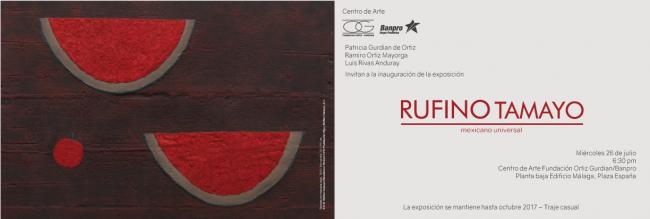 RUFINO TAMAYO, MEXICANO UNIVERSAL