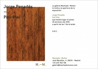 Jorge Penadés. Poli-Piel