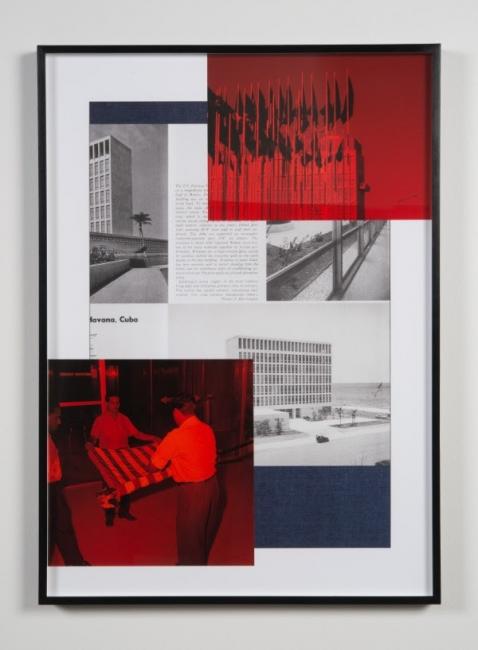 Political Services #4, 2016 Pigment print collage and technical pen, 86 x 61 cm. Imagen cortesía Artista X Artista