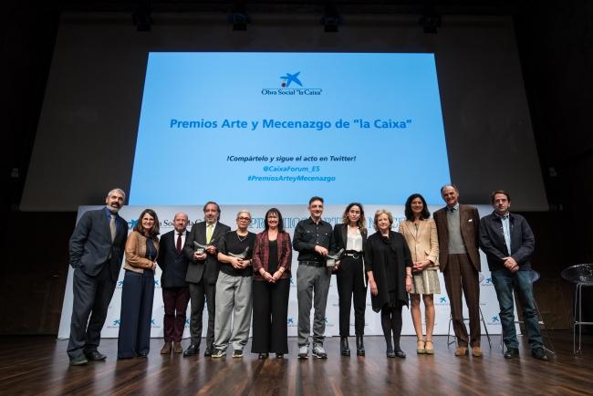 """Entrega de los Premios Arte y Mecenazgo 2018 — Cortesía de Fundación Bancaria """"la Caixa"""""""