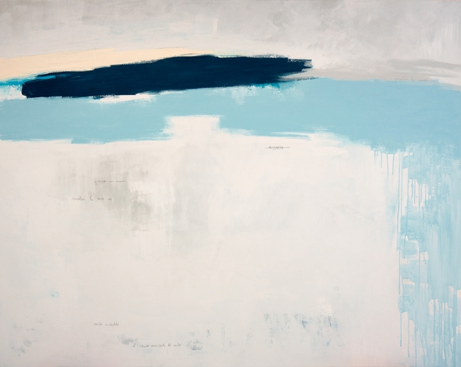 Virginia Rivas, Percibir, 130x162cm. Acrílico y grafito sobre tela. Fotografía de Rodrigo Rivas — Cortesía de Julio Vázquez