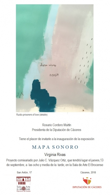 Cartel de la exposición Mapa Sonoro de Virginia Rivas