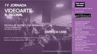 Cartel IV Jornadas Videoarte El Escorial