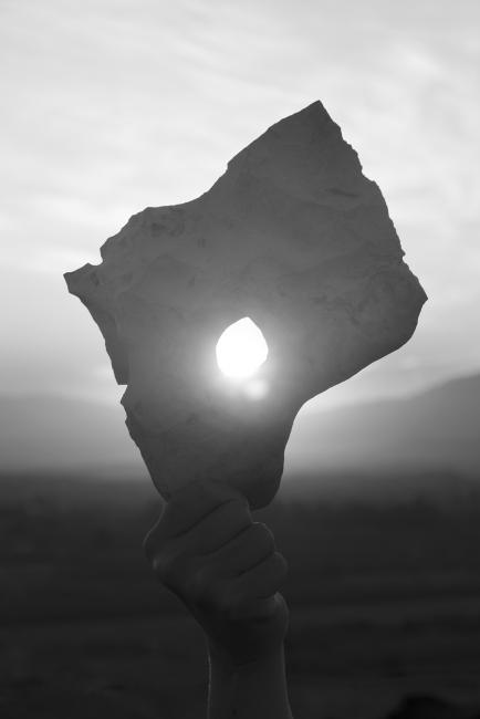 Moreno&Graust. Sol del proyecto Shore to shore. Fotografía digital sobre caja de luz. 60 x 40 cm. 2017 — Cortesía del comisario Antonio Jiménez García