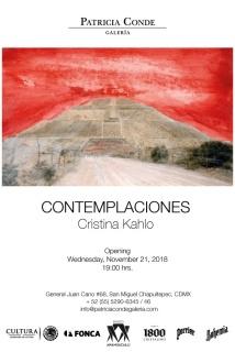 Contemplaciones. Imagen cortesía Patricia Conde Galería
