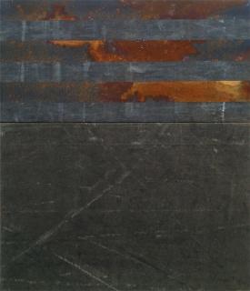 BLACKFULL, 2009 Oxidação de aço s/ lona, 70 x 60 cm. Cortesía de Carlos Carvalho