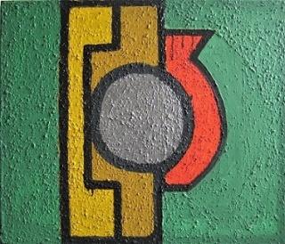Geoffrey Rigden - Mirror, 2002 - 2005, acrylic on canvas, 65 x 65 cm. Cortesía Maddox Arts
