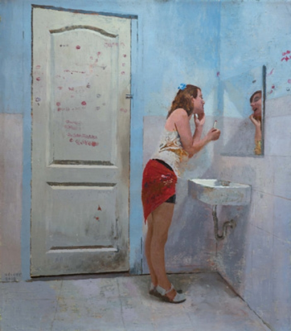 Tolilette paradise. óleo/lienzo, 72 x 63cm.