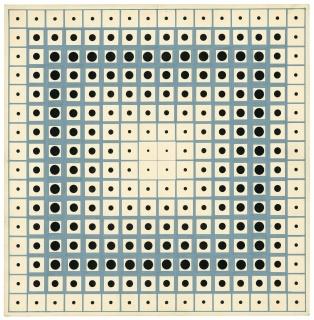 """Julio Le Parc, """"Double progression"""", 1959, acuarela sobre cartón. Atelier Le Parc"""