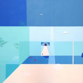 Alejandra Freymann, Anunciación. Óleo sobre lienzo.195x195cm, 2019 — Cortesía de la Galería Herrero de Tejada