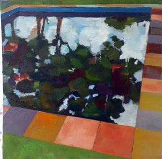 "Geraldo Marcolini, ""Lajotas"", 2018. Óleo s. tela, 60 cm x 60 cm. — Cortesía de Danielian Galeria"