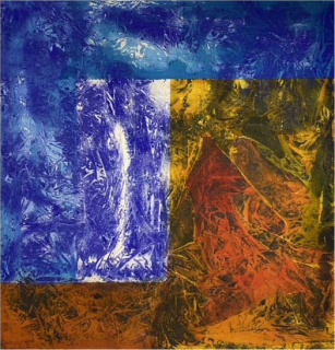 """Carlos Vergara, """"Sem título"""". Técnica mista sobre tela, 150X140 cm. — Cortesía de Danielian Galeria"""