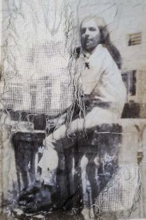 Christus Nóbrega, Se?rie Labirinto - Tia Ione, 2017. Impressão sobre linho rendado, 150x110 cm. — Cortesía de Danielian Galeria