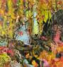 """Fernando Lindote, """"Não te esqueças que eu também venho dos trópicos (As três ninfas)"""", 2019, óleo sobre tela, 250 x 230 cm. — Cortesía de Danielian Galeria"""