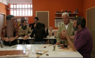 Joan Serra i alumnes adults