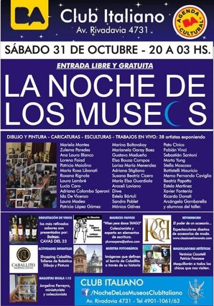 Noche de los museos Club Italiano