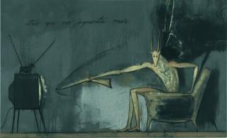 José Bedia, Otro que no aguanta más, 2000, 178 x 193,5 cm