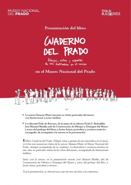 Presentación del libro Cuaderno del Prado. Dibujos, notas y apuntes de una ilustradora en el museo