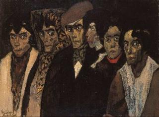 José Gutiérrez Solana. Chulos y chulas. 1906 — Cortesía del Museo de Arte Contemporáneo de Madrid