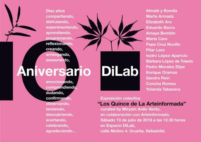 Cartel para LA ARTEINFORMADA - curated by Miryam Anllo
