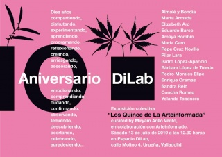 Cartel para LA ARTEINFORMADA - curated by Miryam Anllo