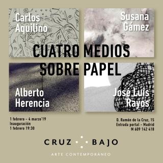 Cuatro medios sobre papel