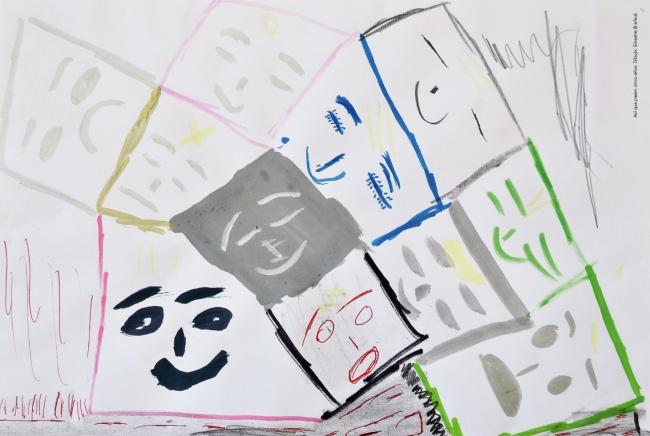 Así que pasen cinco años. Dibujo de Silvestre, 8 años — Cortesía de la Galería silvestre