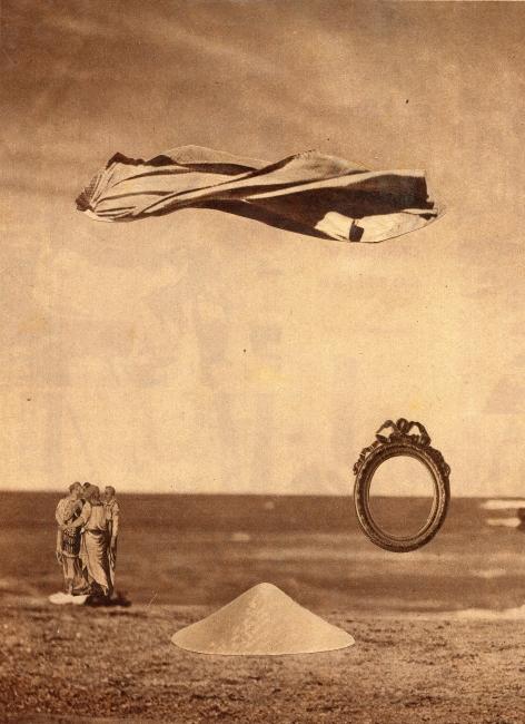 Juan Batlle Planas, Noche, 1940. Collage sobre papel, 25 x 18 cm. Colección Giselda Batlle. Crédito fotográfico: © Rolando Schere Arq. — Cortesia del Museu Fundación Juan March