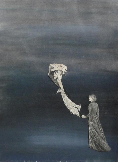 Juan Batlle Planas, Sin título, 1939. Témpera y collage sobre papel, 31 x 23,5 cm. Colección Silvia Batlle. Crédito fotográfico: © Juan Molina y Vedia — Cortesia del Museu Fundación Juan March