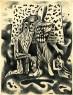 Juan Batlle Planas, Composición, 1935. Dibujo a tinta sobre papel, 25 x 19 cm. Colección Giselda Batlle. Crédito fotográfico: © Rolando Schere Arq. — Cortesia del Museu Fundación Juan March