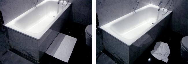 HANS-PETER FELDMANN. Before_After (Badewanne), 1990 — Cortesía de ProjecteSD