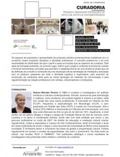 Curadoria, pensar e organizar exposições de arte e de artistas contemporâneos