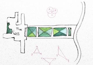 Abraham Cruzvillegas, dibujo preparativo para Agua Dulce, 2020 en The Bass | Cortesía del artista