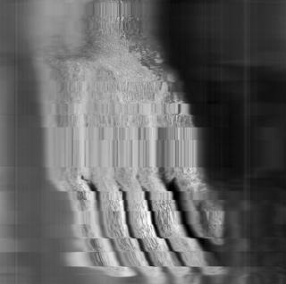 Da série 'Homens Petrificados / Petrified Men' Digitalização de fragmento restante de estátua derrubada ou destruída por motivos políticos depósitos de museus em Portugal, Áustria, Bulgária, Alemanha. 2017 © Maria Trabulo. Cortesía de Novo Banco