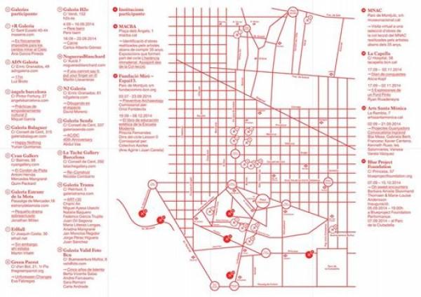 Mapa con las galerías | Art Nou / Primera Visió 2014 sigue sumando más galerías, centros públicos y espacios privados