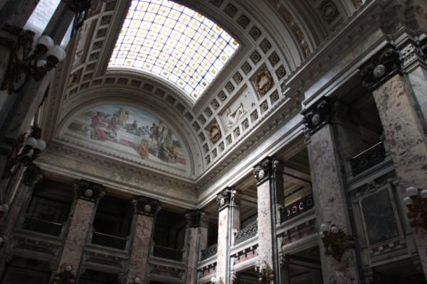 Imagen del interior del Palacio Legislativo | Los artistas de la III Bienal de Montevideo toman el Palacio Legislativo