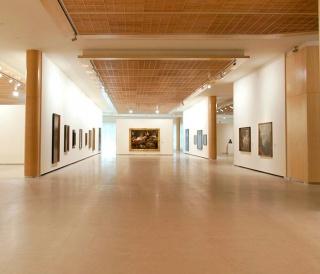 Vista de la Sala de Arte Santander, en la Ciudad Grupo Santander (Boadilla del Monte, Madrid)
