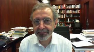 Pantallazo de la entrevista a Manuel Borja-Villel, director del Museo Reina Sofía de Madrid