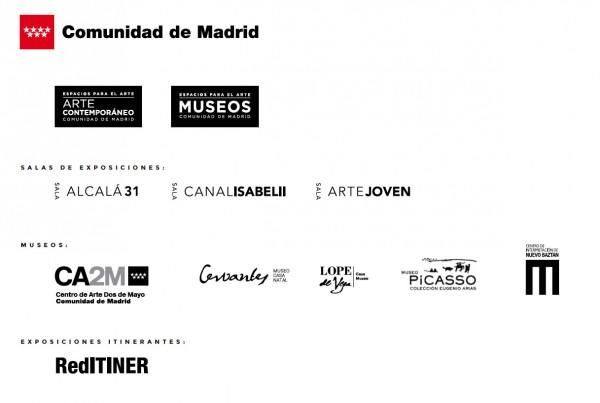 Logos de centros de la Comunidad de Madrid | La Comunidad de Madrid aumenta sus recursos para exposiciones