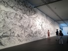Qiu Zhijie, Mapa (2014) instalación sobre pared en rampa de acceso Bienal de Sao Paulo Cortesía Paco Barragán