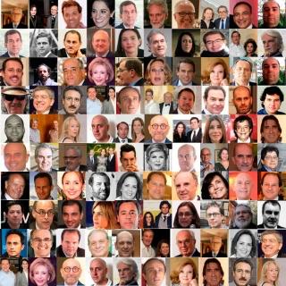 Algunos de los 100 coleccionistas incluídos