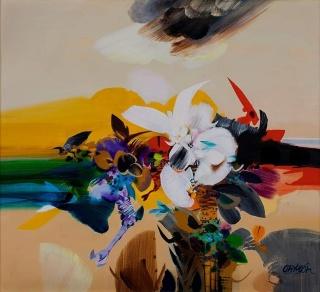 'La Flor Carnívora', Alejandro Obregón. Cortesía del MAMB