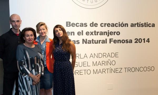 XX Aniversario MAC: Miguel Mariño, Carmen Fernández Rivera, Martínez Troncoso y Carla Andrade. | El MAC de A Coruña celebra su XX aniversario
