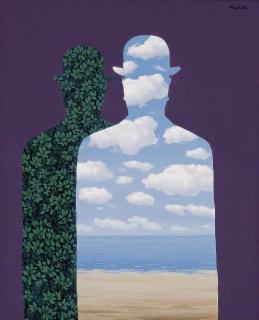 """La Belle Société "" de René Magritte© René Magritte, VEGAP, Madrid, 2019. Cortesía de Espacio Fundación Telefónica"
