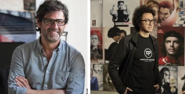 Juan de Nieves (Izqda) y Daniel García Andújar. Cortesía del Artpace San Antonio | Juan de Nieves y Daniel García Andújar en las residencias del Artpace San Antonio