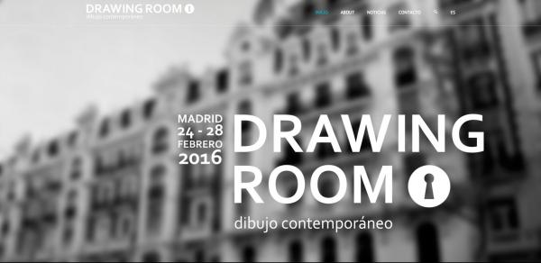 Captura de la web de Drawing Room Madrid   Drawing Room Madrid ya tiene sus galerías y artistas